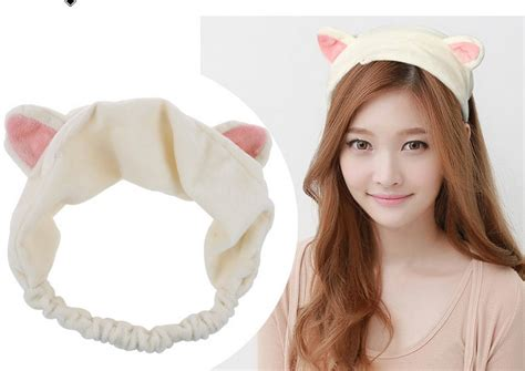 women hair by ears 1pc new korean velvet cat band ears headband women hair