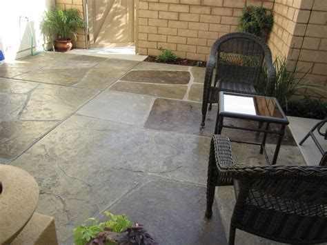 Ready Mix Patio Grout by Sted And Colored Concrete Quot Imported Quot Patio