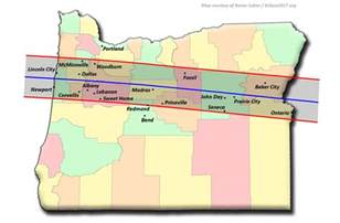 map of oregon totality total solar eclipse 2017 the path through oregon