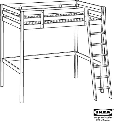 ikea loft bed instructions download ikea stor 195 loft bed frame full double assembly