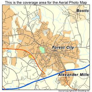 aerial photography map of forest city nc carolina