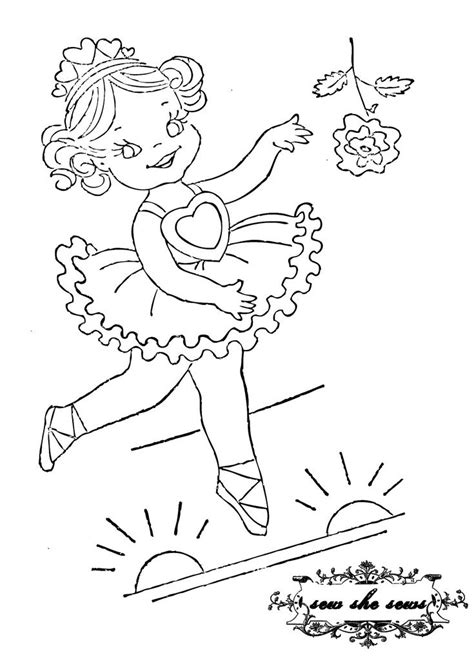 vintage ballerina embroidery pattern | Embroidery patterns