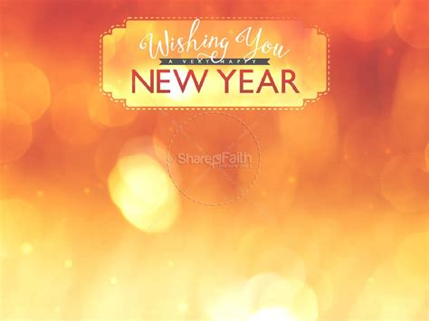 Wishing A Happy New Year Ministry Powerpoint Church New New Year Powerpoint
