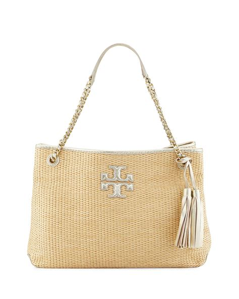 Burch Tote Vs Steve Madden Bag by Burch Thea Straw Slouchy Tote Bag In Lyst