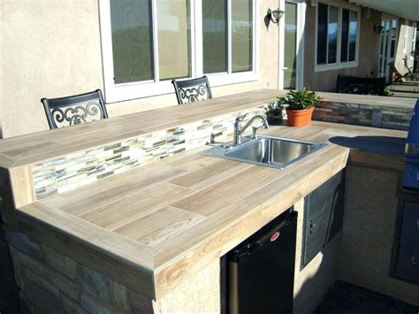 outdoor kitchen countertop ideas outdoor kitchen tile grapevine project info