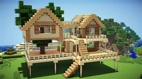 Building An A Frame House | minecraft how to build a survival starter house
