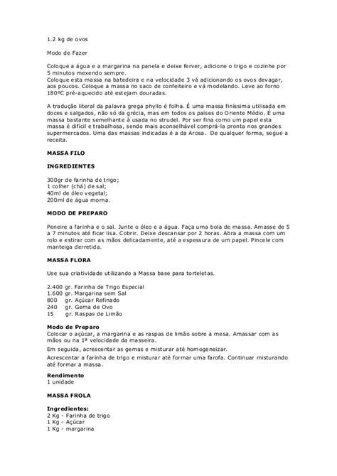 Apostila de massas doces- massas para tortas doces e salgadas