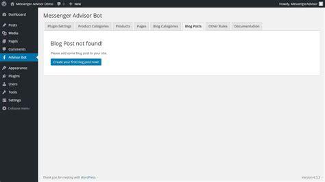 blog not found messenger advisor messenger chat bot for wordpress by