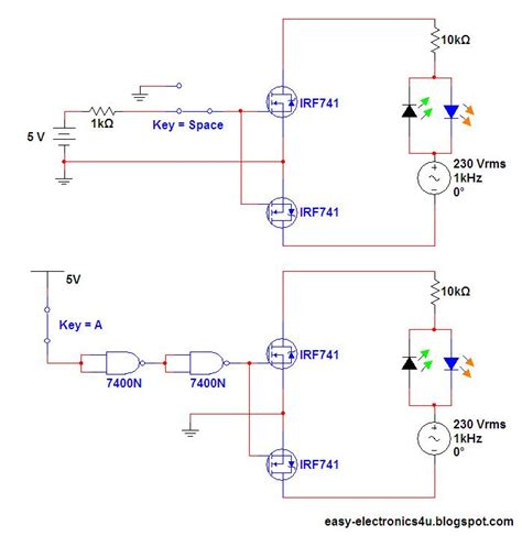transistor fet como switch switch ac loads using mosfet s as relay easy electronics