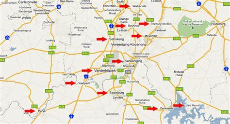map of vereeniging distribution details
