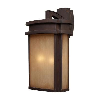 Home Depot Wall Sconces Bronze titan lighting sedona 2 light outdoor clay bronze wall sconce tn 5232 the home depot