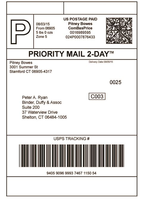 usps shipping label template print shipping label images