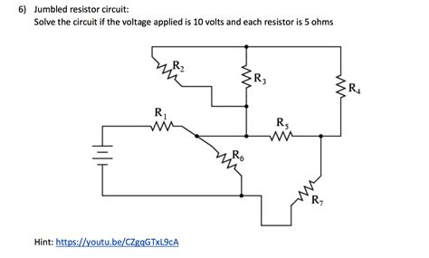 how to solve a circuit with resistors in series and parallel solve the circuit means find the total resistance chegg