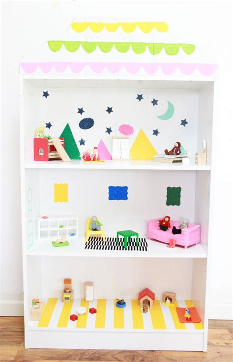 a bubbly diy dollhouse bookcase with giveahome
