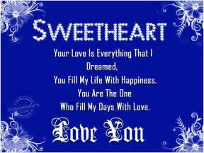 I Love You Sweetheart Quotes sweetheart love you desicomments com