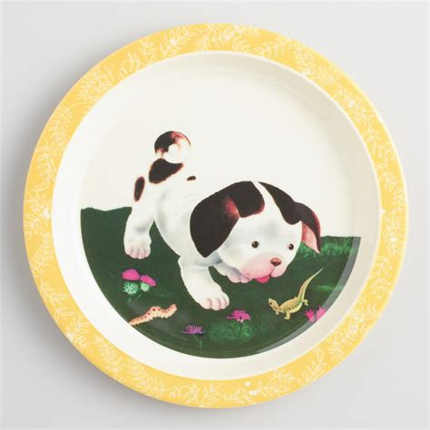 poky puppy poky puppy melamine plates set of 4 world market