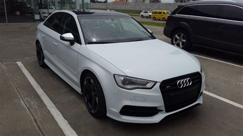 White Audi S3 Sedan Black Rims On Matte A3 illinois liver