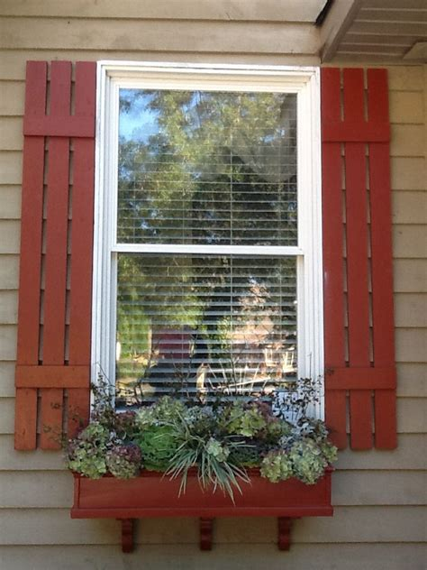 fall window boxes and shutters home exterior - Shutters And Window Boxes