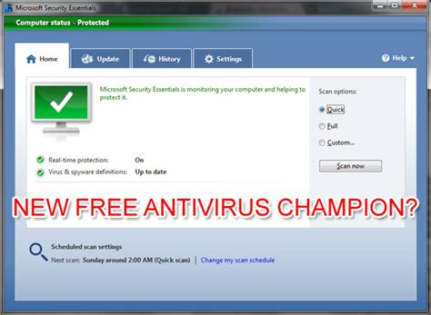 Microsoft security essentials rated best free antivirus for windows
