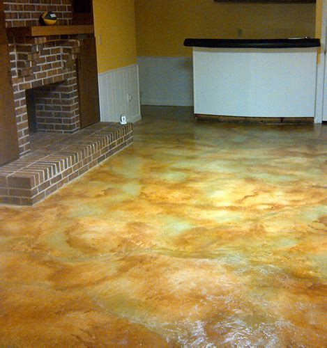 concrete floor finishes color finish trial on poured how to acid staining concrete floors directcolors com