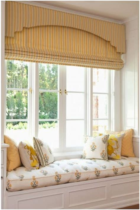 window seat fabric beautiful layered treatment cornice board shade
