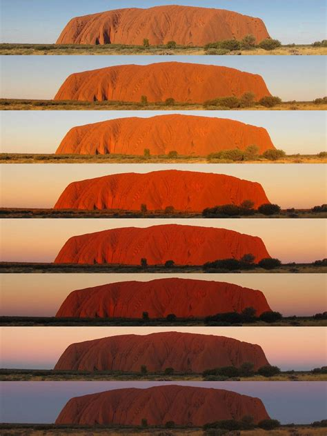 that changes color the colours of uluru the legandary colour change of