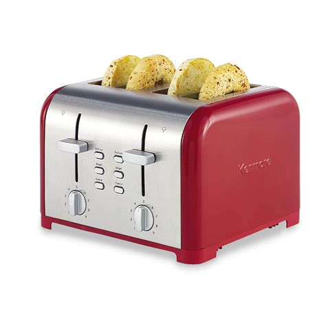 Red Long Slot Toaster Kenmore Four Slice Red Adjustable Toaster Free Shipping