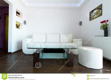 white sofas in living rooms white leather sofa in living room royalty free stock