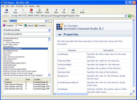 h2viewer help viewer for vs 2002 2003 2005 2008