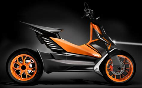 Ktm Scooters Ktm Displays Electric Scooter Concept In Japan