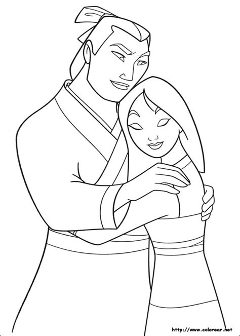 mulan shan you coloring page coloring pages