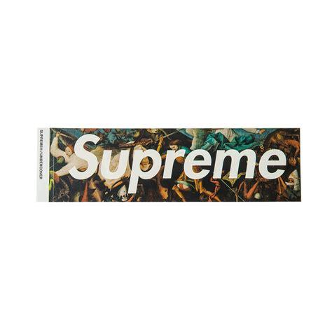 supreme logo supreme undercover box logo sticker