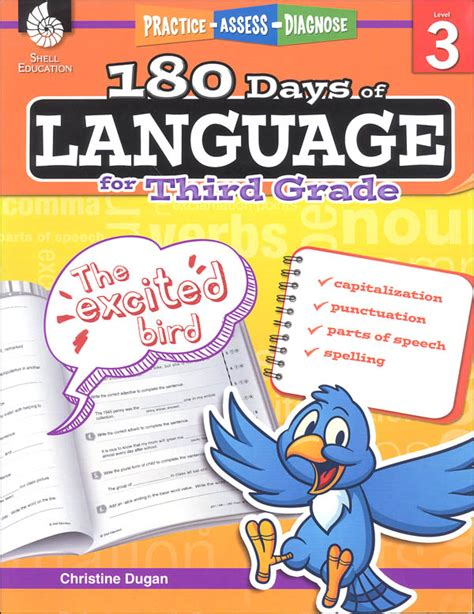 180 days of reading for third grade 180 days of practice 180 days of language for third grade practice assess