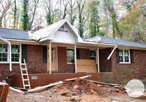 Building A Gable Porch Roof The New Front Porch Plantation Relics