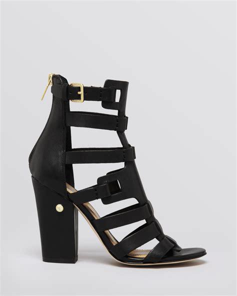 black high gladiator sandals ivanka sandals gladiator high heel in black lyst