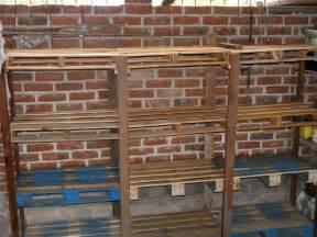 Garage Shelving Out Of Pallets Pallet Shelves