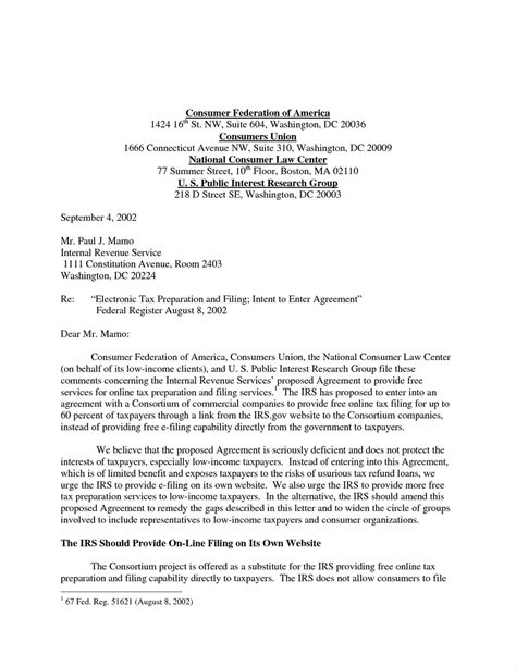 irs response letter template samples letter templates