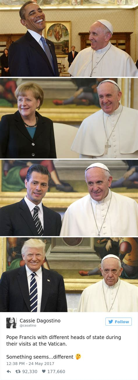 funniest reactions  super sad pope meeting