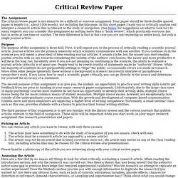 How To Make A Review Paper - bio 331 scientific journal article review due 10999 dr