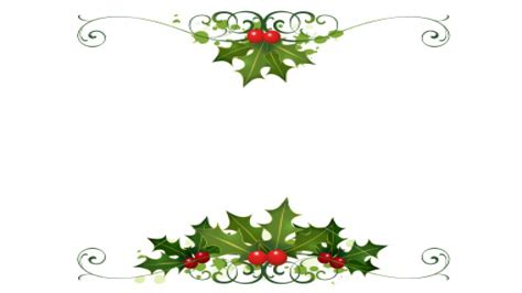 printable christmas holly desk clipart border pencil and in color desk clipart border
