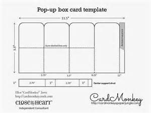 Pop Up Card Box Template by Cardmonkey S Paper Jungle Create Custom Pop Up Cards For