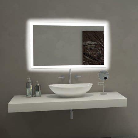 paris mirror rectangle bathroom mirror  led backlights walmartcom