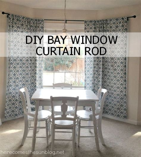 bay window curtain rod diy diy bay window curtain rod