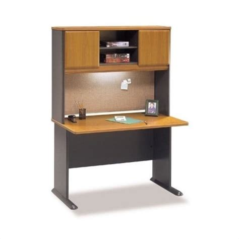 cherry wood computer desk with hutch bush bbf series a 48 quot wood computer desk with hutch in