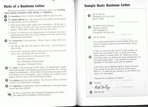 Business Letter Format Write Source Book write source business letter format cover letter templates