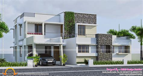 home design 200 sq yard contemporary 289 square yards house elevation kerala