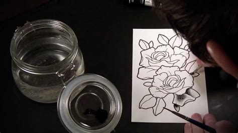 spit first tattoo spit shading lesson tutorial speed drawing of