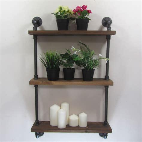 Urban Retro Industrial Iron Pipe Shelving Shelves Natural Iron Pipe Shelves