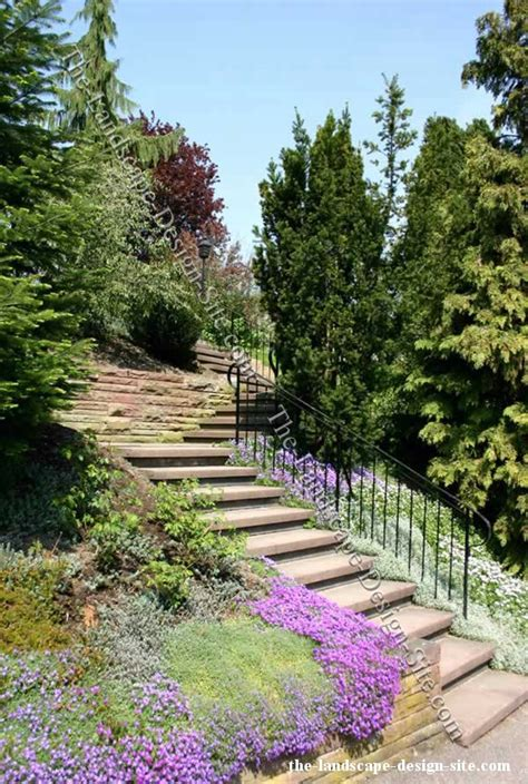 Landscape Ideas For Hillside Backyard Landscaping A Steep Hillside Steep Hillside Stairs Landscape Ideas Landscaping