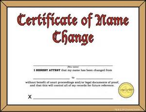 Certification Letter For Change Name the certificate of name change regular show photo 30602942